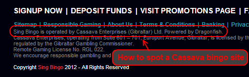 how to spot cassava bingo sites